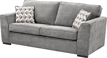 Enjoyable Tesco New Boston Large 3 Seater Fabric Sofa Dark Grey Pabps2019 Chair Design Images Pabps2019Com