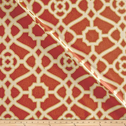 P//Kaufmann Burnished Tile Chintz Gold Fabric By The Yard