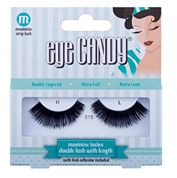 206987d364a Eye Candy 50's Style Volumise 015 Natural Look False Strip Lashes:  Amazon.co.uk: Beauty