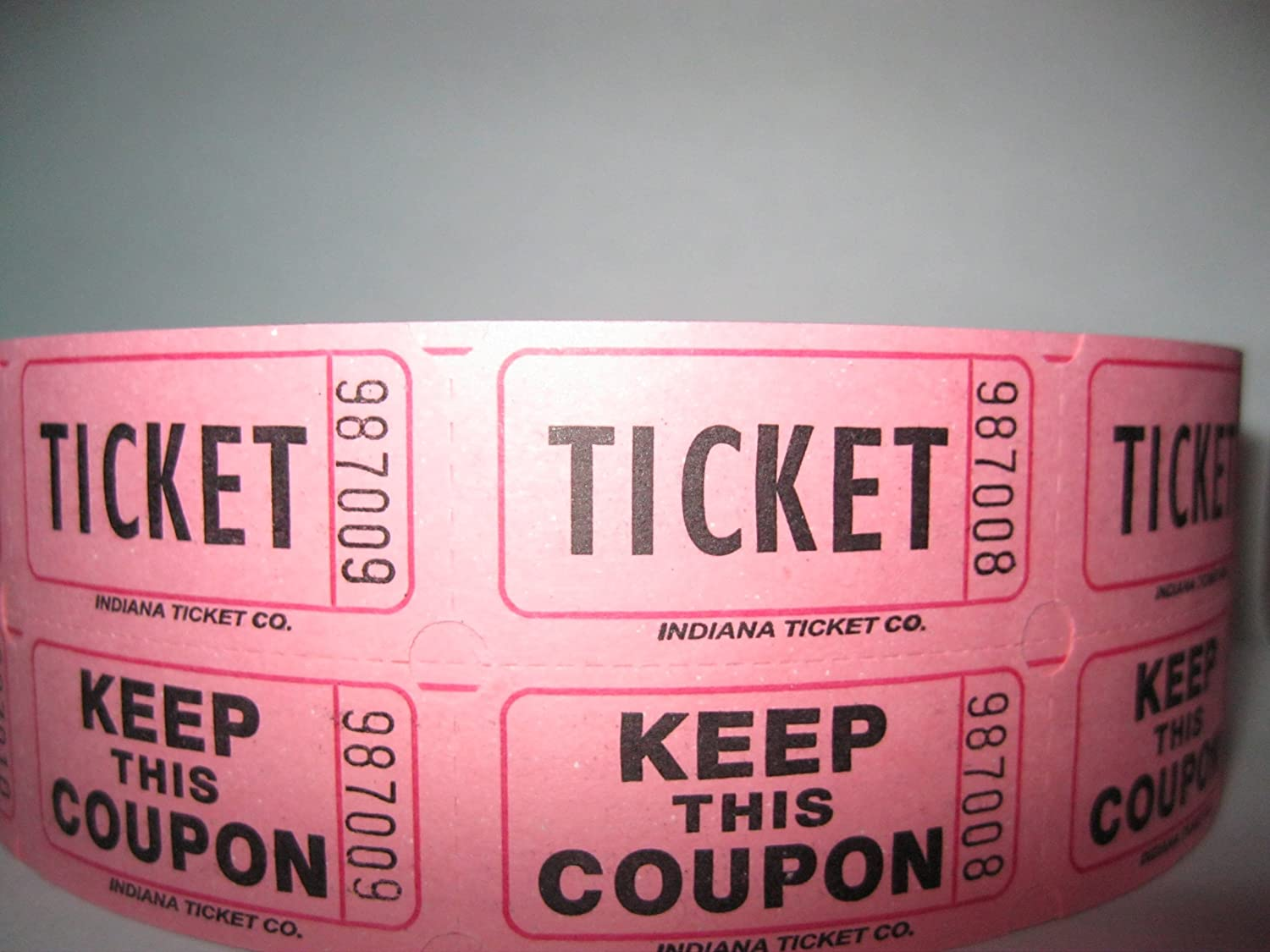 com na ticket company raffle tickets per roll com na ticket company raffle tickets 2000 per roll pink office products