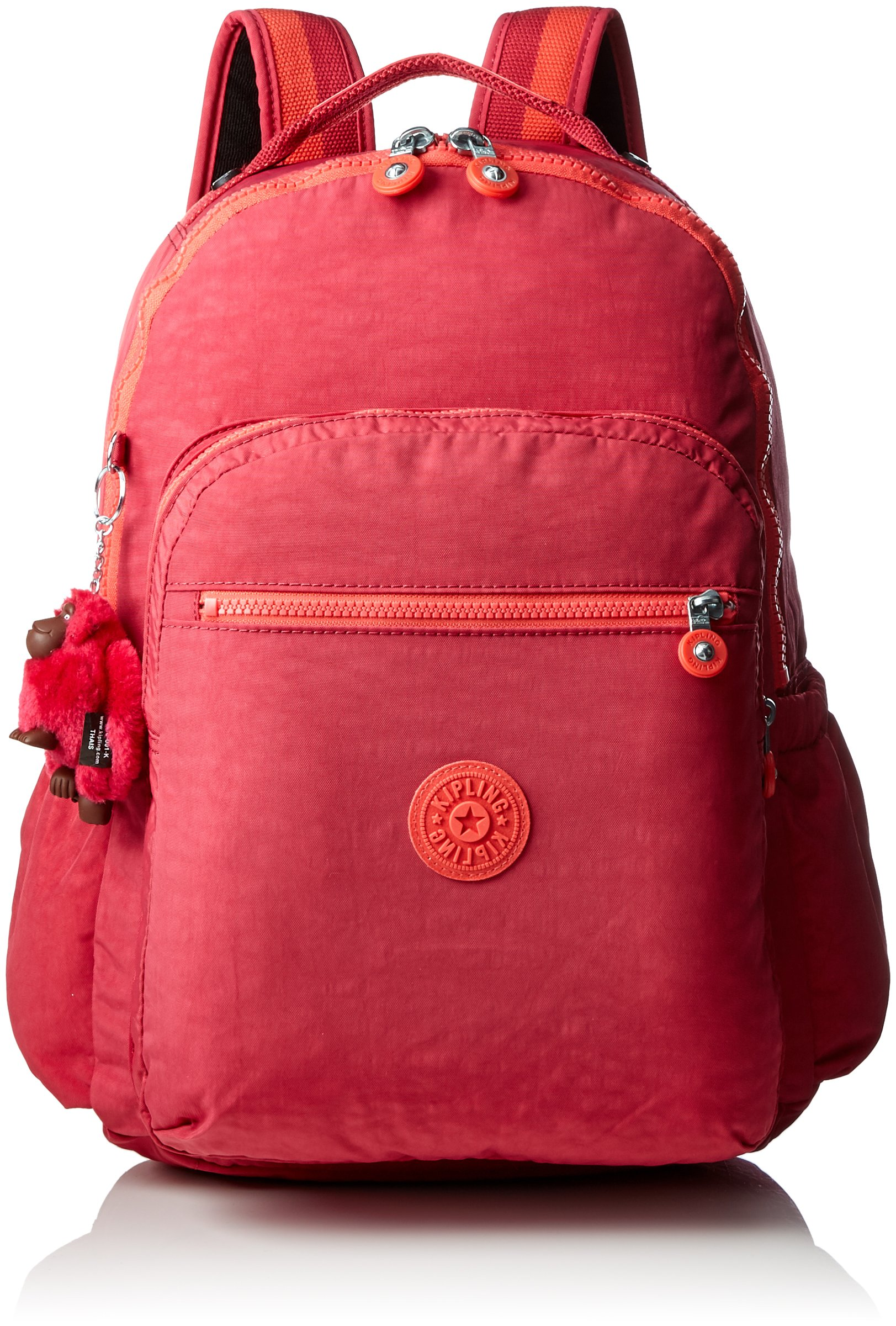 Kipling Seoul Up Large Backpack With Laptop Protection Punch Pink C