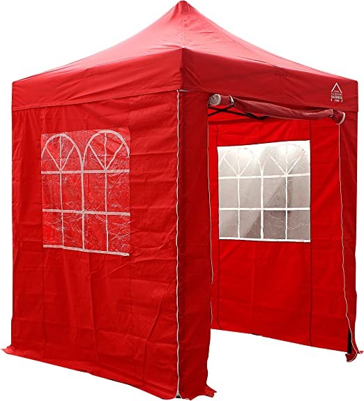 All Seasons Gazebos - Cenador Impermeable (2 x 2 m), Color Rojo ...