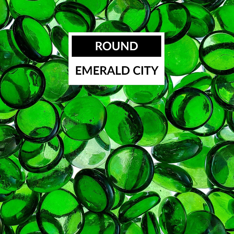 Bond Manufacturing 67985 LavaGlass Round Fire Pit Dispersion Glass, ø 0.66-0.74 in Emerald City