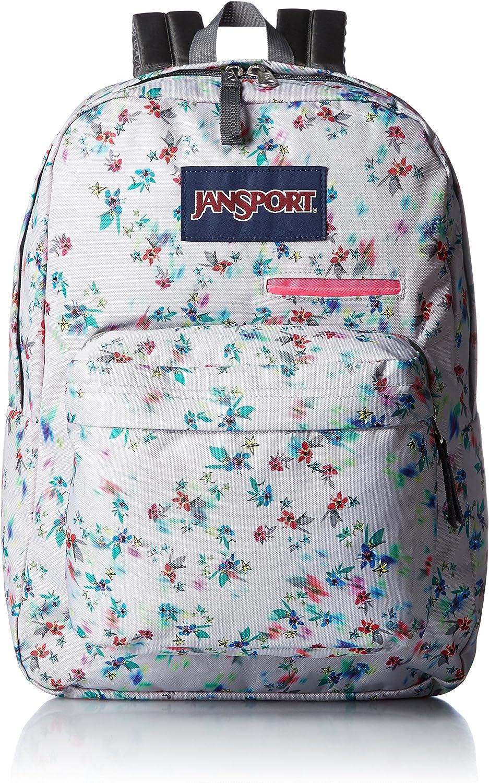JanSport Unisex Digibreak Multi Grey Floral Haze Backpack