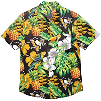 new styles 86df8 21953 NHL Mens Floral Tropical Button Up Shirt