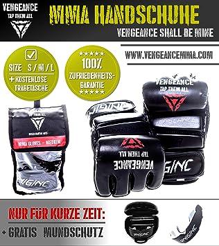 HCG-Di/ät verst/ärkter Kn/öchel- und Gelenkschutz Werbeaktion Vengeance Premium Boxhandschuhe Muay Thai +Tragetasche+E-Book +GRATIS MUNDSCHUTZ Kickboxen Profi-Handschuhe | Boxen MMA