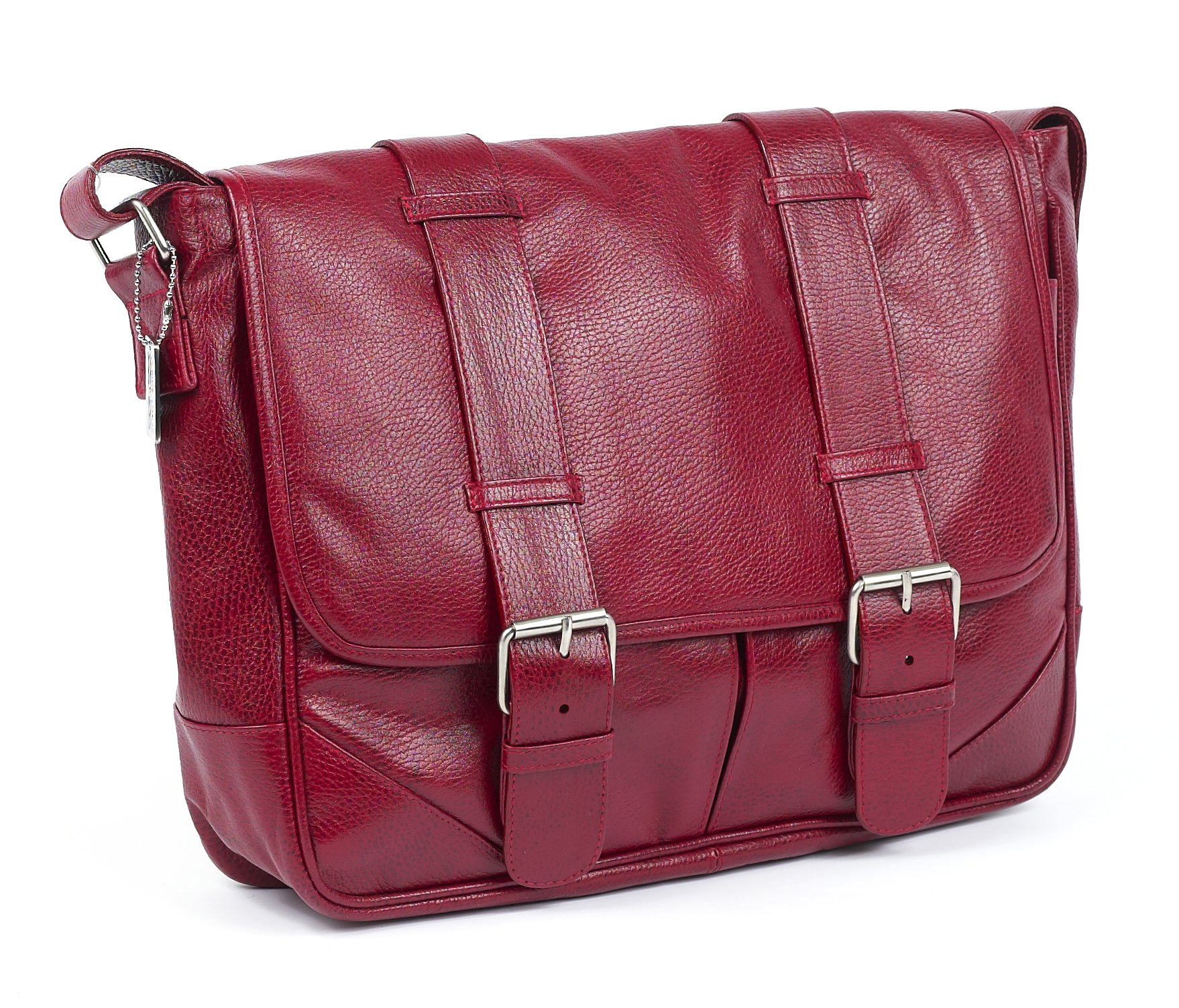 Claire Chase Sorrento Computer Messenger, Red, One Size