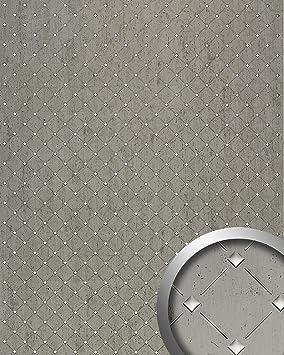 3D Revestimiento mural Panel decorativo Mosaico autoadhesivo WallFace 17857 platino gris plateado 2,60 m2: Amazon.es: Bricolaje y herramientas