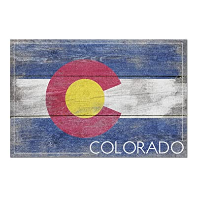 Rustic Colorado State Flag (Premium 1000 Piece Jigsaw Puzzle for Adults, 20x30, Made in USA!): Toys & Games