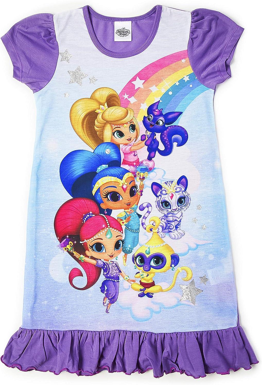 Disney Camicia da Notte Bambina Maniche Corte Ladybug Pigiama Costume per Ragazza Stampa Principesse E Personaggi Cartoni Animati Cenerentola Patrulla Canina