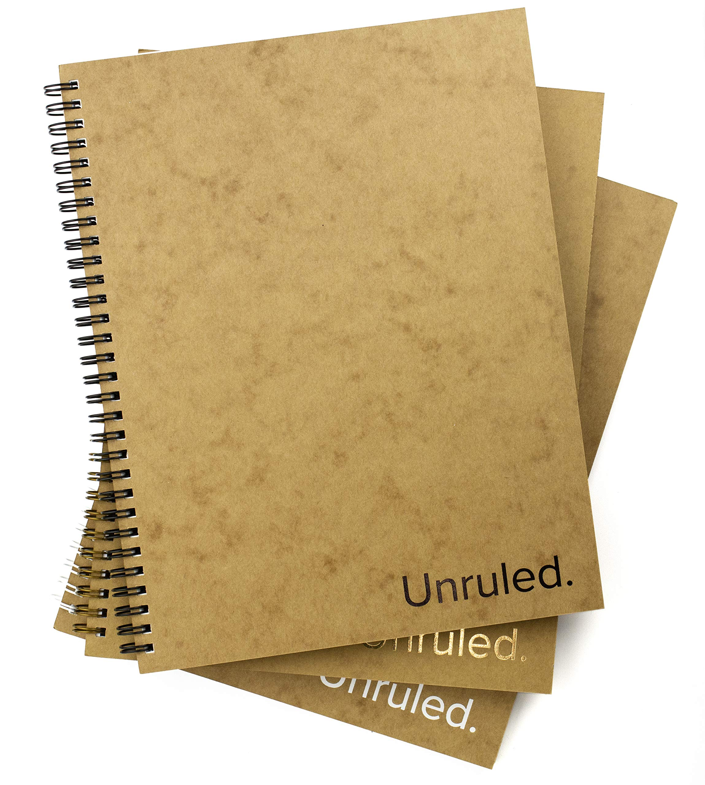 Unruled Notebook (3 Pack): Environmentally Sustainable, Designed by College Students for Visual notetaking, 60 Unlined Perforated Sheets, 8 x 10.5 inches (Combo)