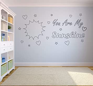 nursery rhyme You are my sunshine Wall art vinyl decal sticker clhildrens