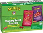 Annie's Homegrown Organic Bunny Fruit Snacks, Variety Pack, 12 Pouches, 9.6