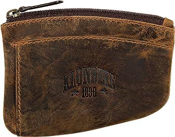 Klondike 1896 Logan Estuche para Llaves de Cuero, Llavero de Cuero Mujeres y Hombres - Marrón: Amazon.es: Equipaje
