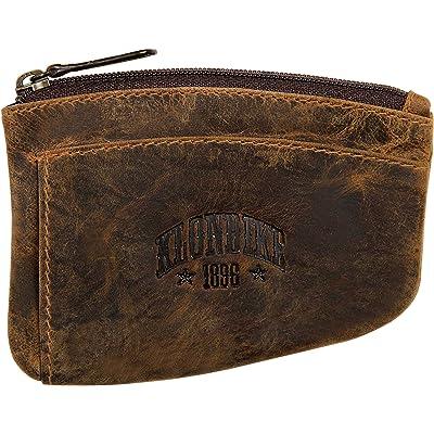 Klondike 1896 Estuche para Llaves de Cuero 'Logan', Llavero de Cuero Mujeres y Hombres de Color marrón