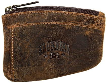 Klondike 1896 Estuche para Llaves de Cuero Logan, Llavero de Cuero Mujeres y Hombres de Color marrón