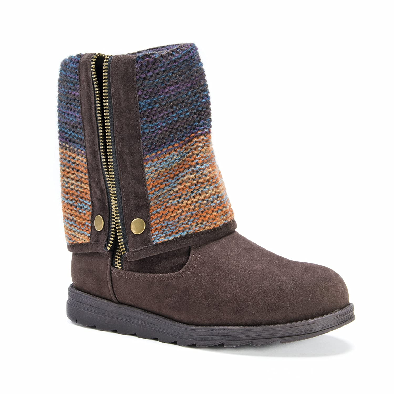MUK LUKS Women's Demi Winter Boot B01M9B75Z6 10 B(M) US|Dark Brown