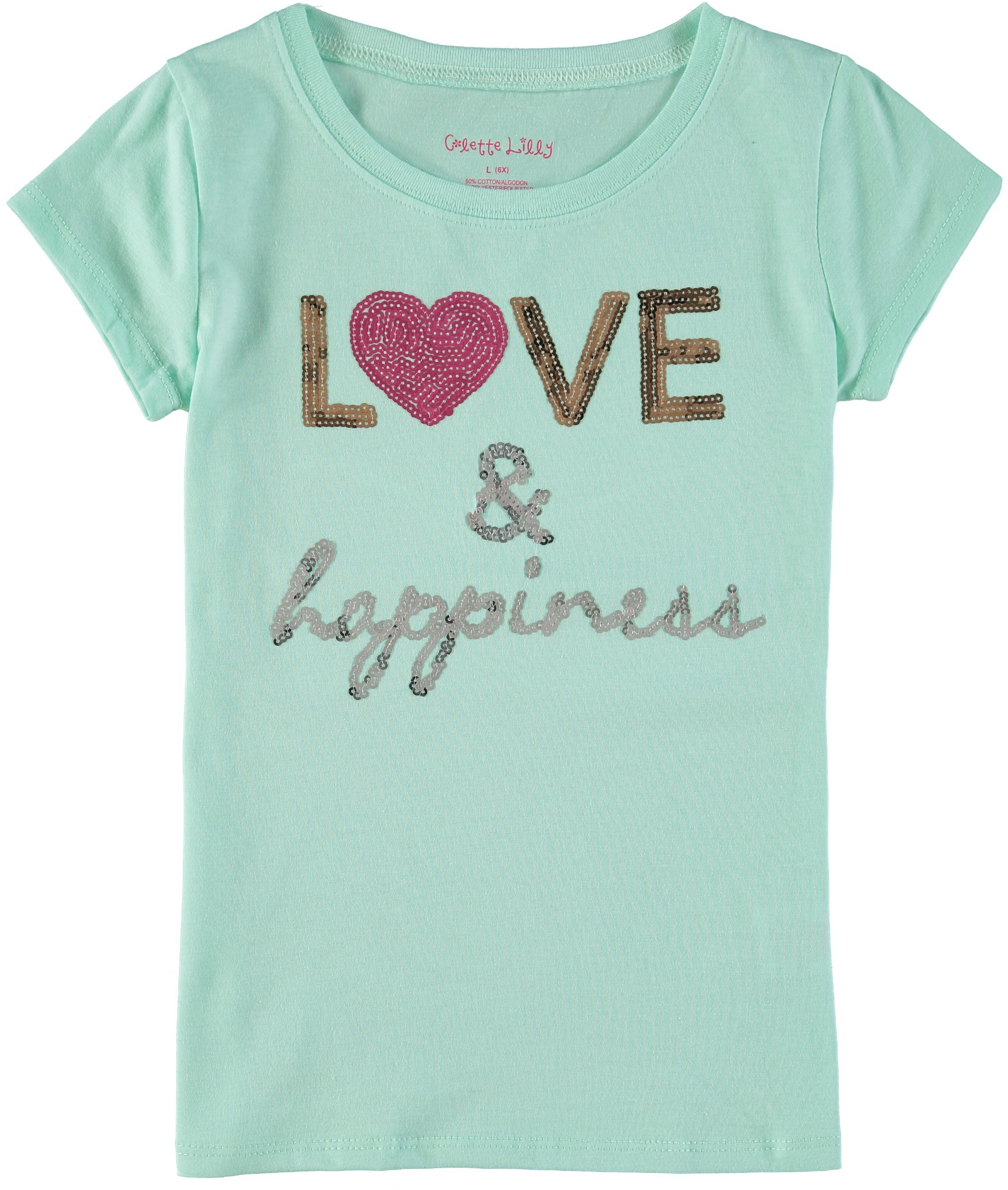 Colette Lilly Little Girls' Love Sequin T-Shirt by Colette Lilly