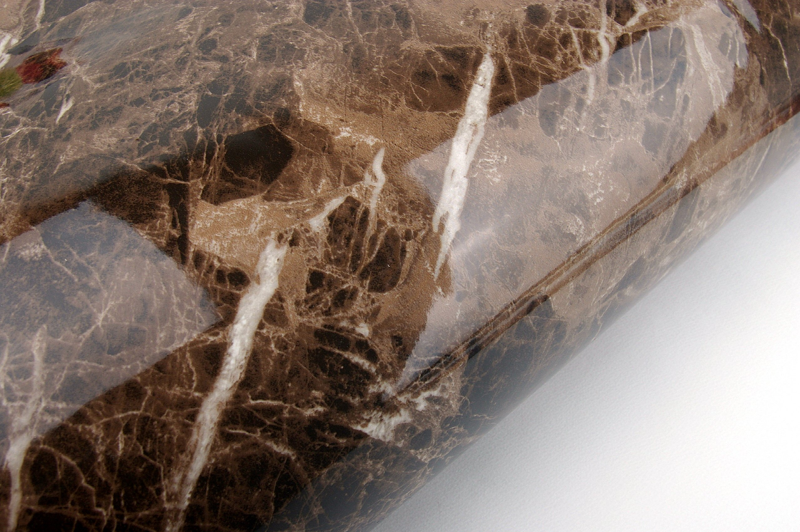 Marble Look Film Brown High Glossy Granite Effect Vinyl Self Adhesive Peel-Stick Brown Counter Top (2' x 6.56 ft(2Pack)) by Very Berry Sticker (Image #5)