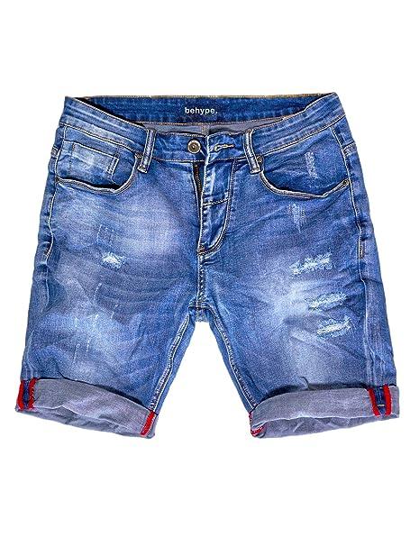Promo-Codes Wählen Sie für echte zuverlässiger Ruf behype. Herren Jeans-Shorts Kurze Hose Destroyed Denim-Hose ...