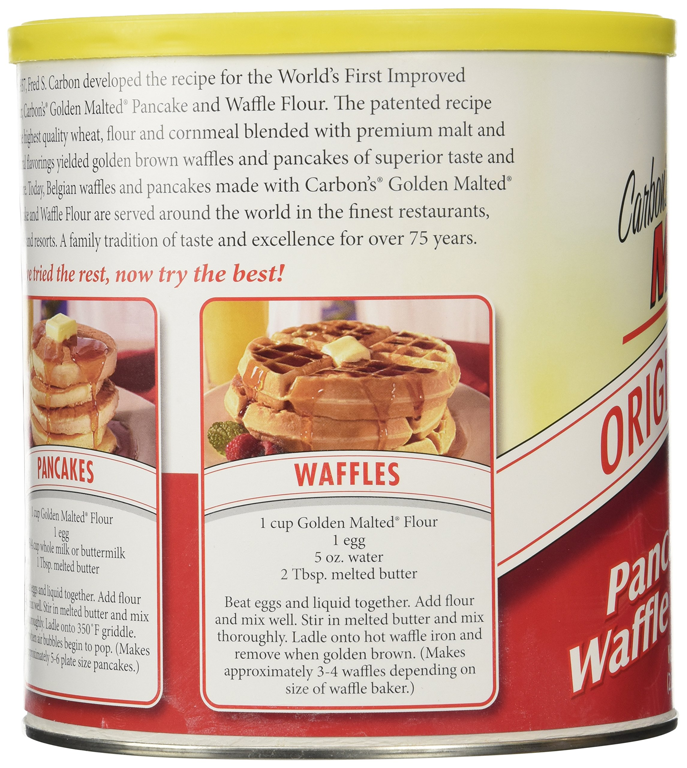 Golden Malted Waffle And Pancake Flour Original 33 Ounce Can
