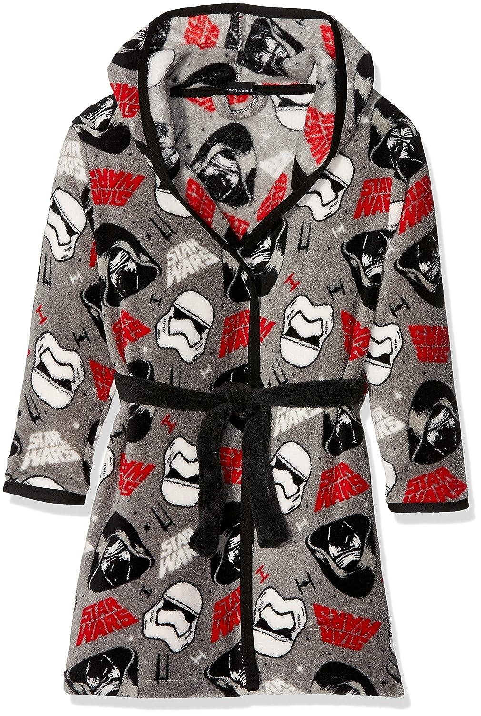 grigio Star Wars-The Clone Wars Darth Vader Jedi Yoda Ragazzi Accappatoio con cappuccio Coral fleece