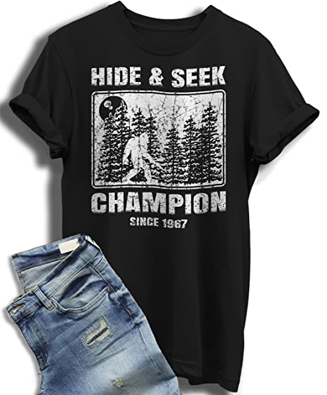 37bda7e17 Image Unavailable. Image not available for. Color: Hide and Seek Champion T  Shirt Undefeated Bigfoot ...