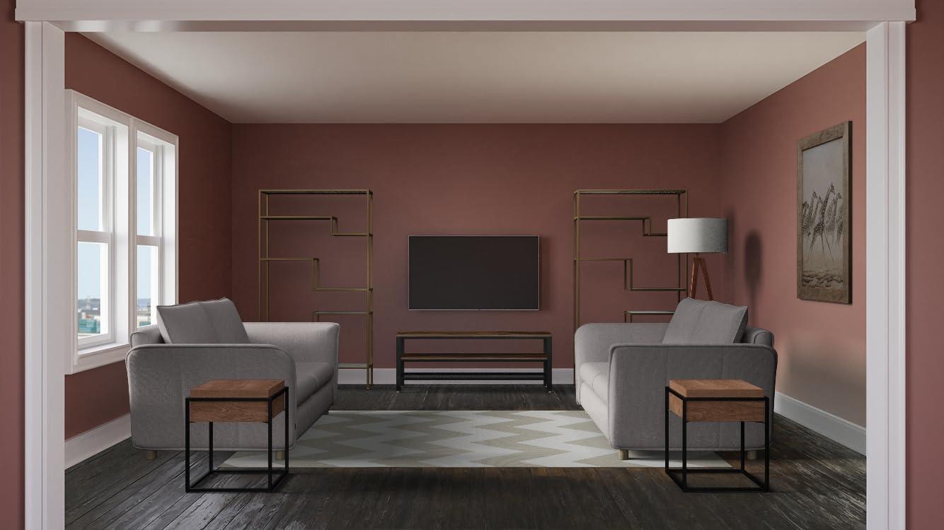 Sala de estar atemporal con TV