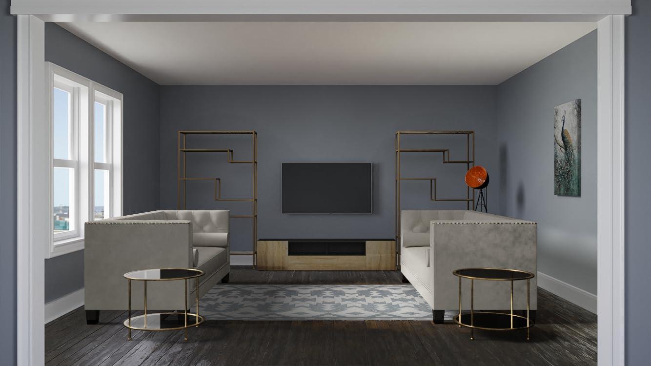 Salon intemporel avec TV