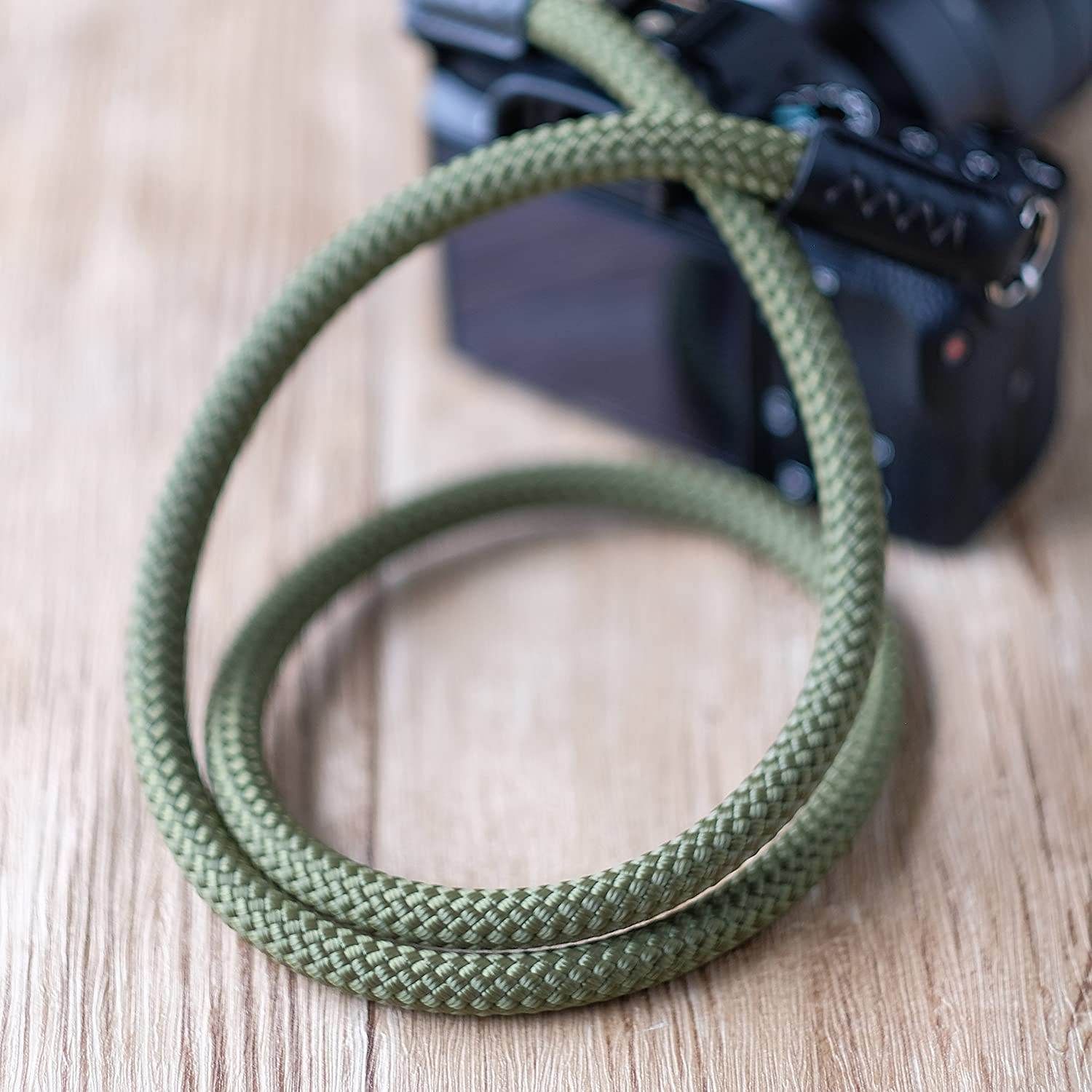 Red L=100cm A-MoDe Climbing Rope 10mm Handmade Camera Neck Strap Beal SingingRock Rope for Leica Nikon Fuji Canon Sony