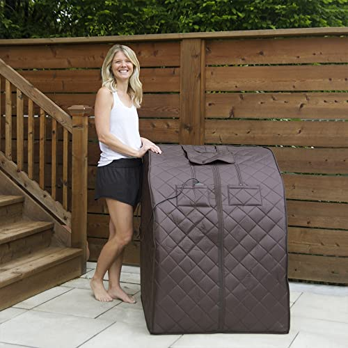 Radiant Saunas BSA6315 Harmony Deluxe Oversized Portable Sauna, Dark Brown