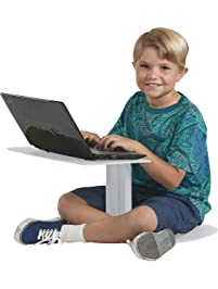ECR4Kids The Surf Portable Lap Desk/Laptop Stand/Writing Table, Light Grey