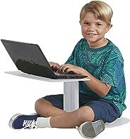 ECR4Kids The Surf Portable Lap Desk/Laptop Stand/Writing Table, Light Grey