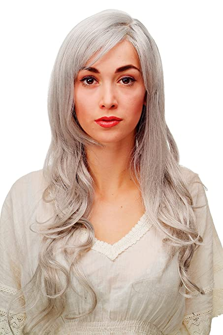 Wig Me Up - Parrucca Mix Di Bianco E Grigio Con Meravigliosi Capelli Lunghi  Ricci  01bf4b4a686c