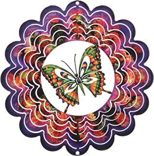 product image for Next Innovations Kaleidoscope Butterfly Wind Spinner, Purple, Small