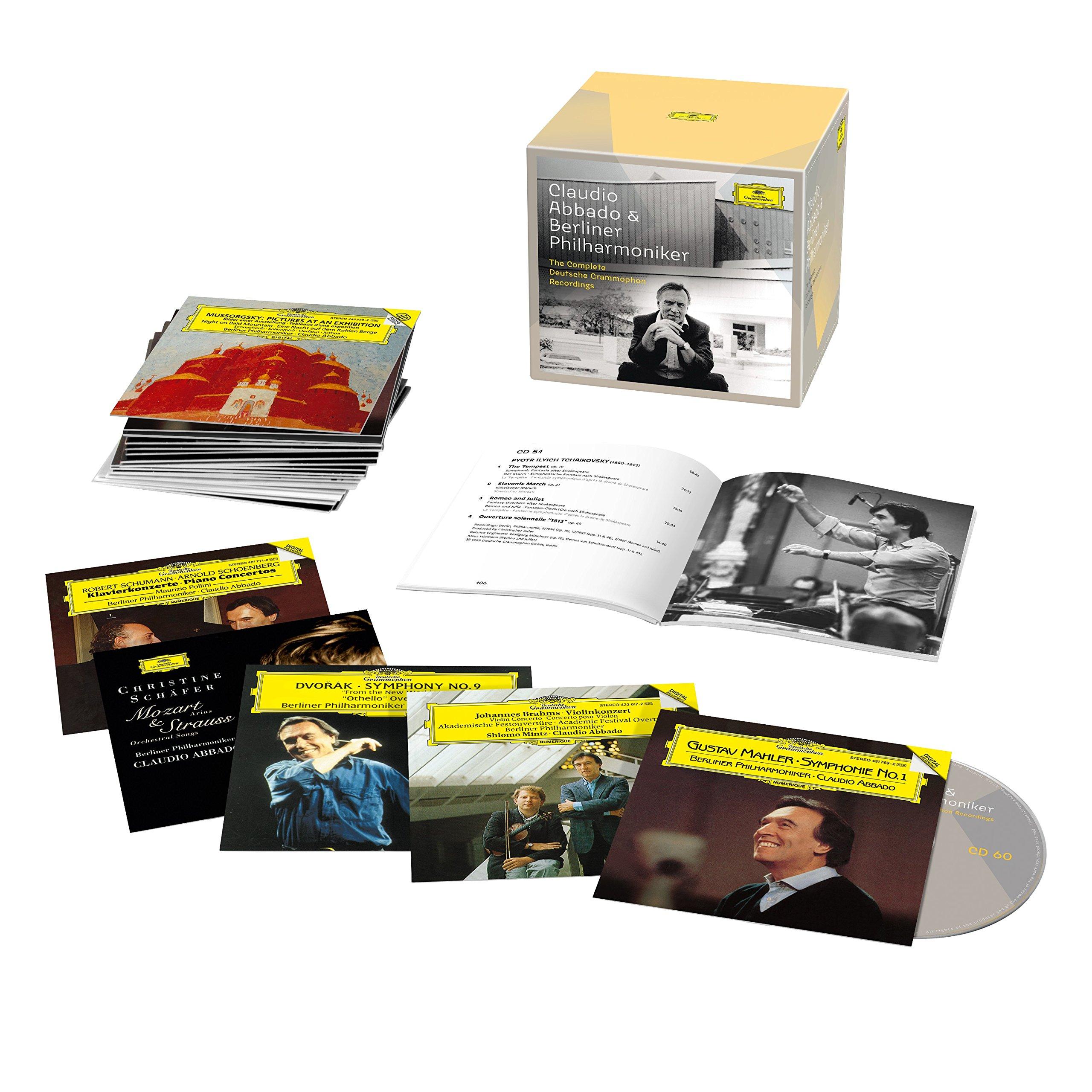 CD : Claudio Abbado - Complete Recordings On Deutsche Grammophon & Phili (Limited Edition, Boxed Set, 60PC)