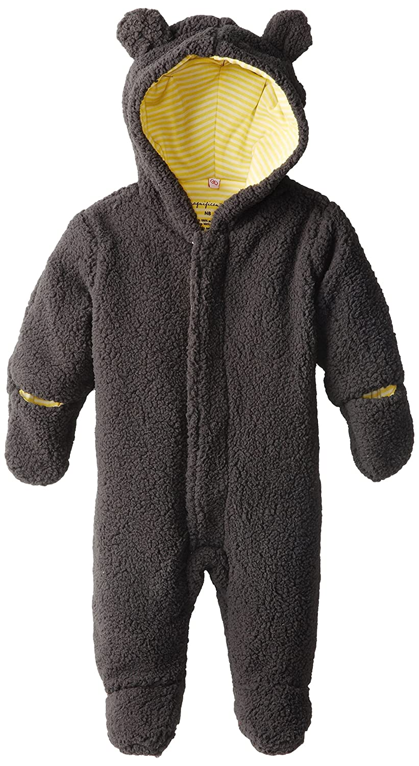 Magnificent Baby Unisex-Baby New-Born Ash Lemon Fleece Bear Pram, 3 Months 5038-U