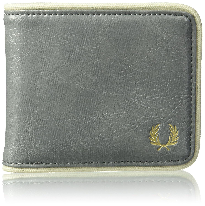 Fred Perry Men's Classic Billfold Wallet Black/Ecru One Size L3335