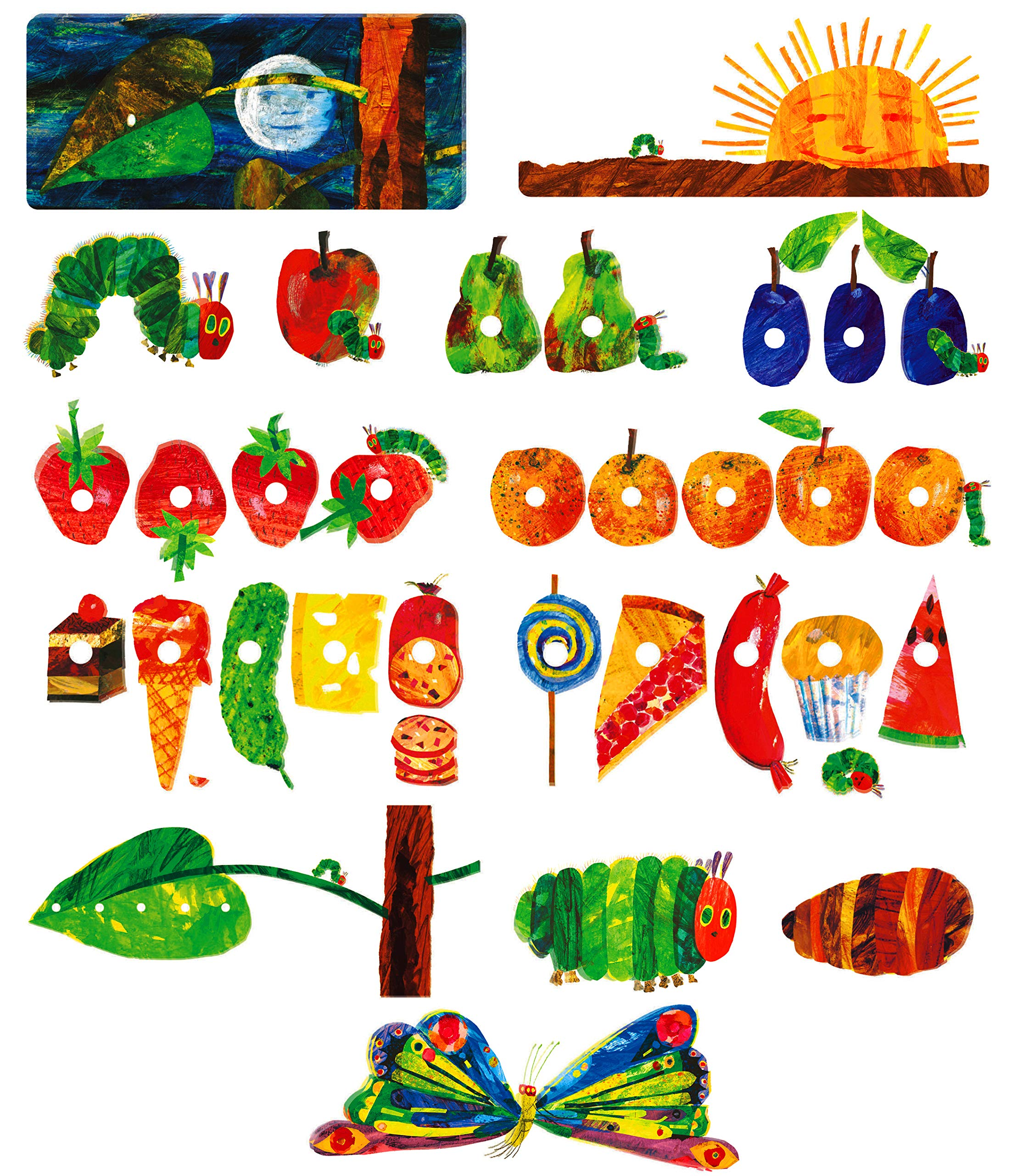 Little Folk Visuals The Very Hungry Caterpillar Precut Flannel/Felt Board Figures for Toddlers, Kindergarteners, Interactive Teaching 14-Piece Set for Flannel Board Stories by Little Folk Visuals