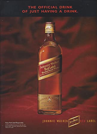 MAGAZINE AD For 1997 Johnnie Walker Red: official Drink of