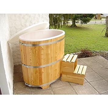 Sauna Tauchbecken Aus Lärchenholz Mit Kunststoffeinsatz Außen