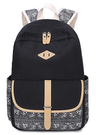 ab832d2246e9 HAPPYTIMEBELT Double Zipper Printing School Backpack Children Book Bag (Black)