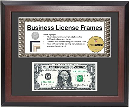 Amazon.com: CreativePF [$L8.5x11ss-b] Mahogany First Dollar Frame ...