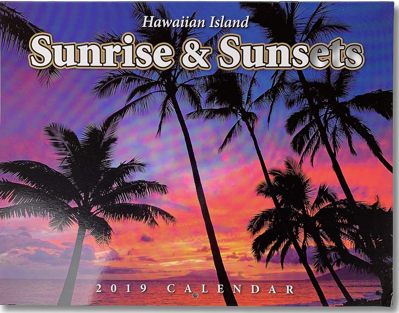 Sunrise And Sunset Calendar 2019 Amazon.: 2019 Hawaiian Island Sunrise & Sunset Calendar