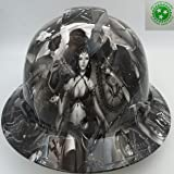 Wet Works Imaging Customized Pyramex Full Brim Fantasy Girls Hard Hat With Ratcheting Suspension
