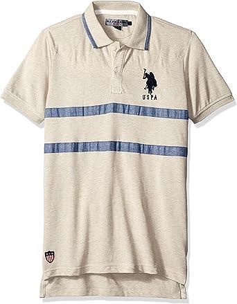 U.S. Polo Assn. Hombres Camisa Polo - Beige -: Amazon.es: Ropa y ...