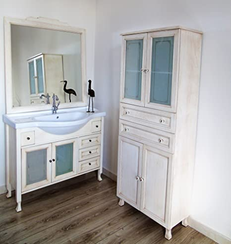 Liberty Bathroom Furniture Shabby Chic Ivory Patina DECAPE With Column  Bathroom With Glass Doors