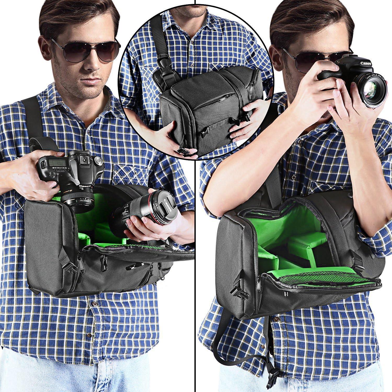 only y y Bolso Impermeable de Gran Capacidad para c/ámara de Fotos r/éflex Digital con Correa de Nailon para Nikon Canon Sony SLR//DSLR Mirrorless Digital Cameras y Lenses