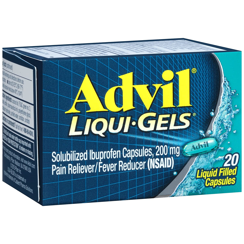 Amazon Com Advil Liqui Gels 20 Count Pain Reliever Fever