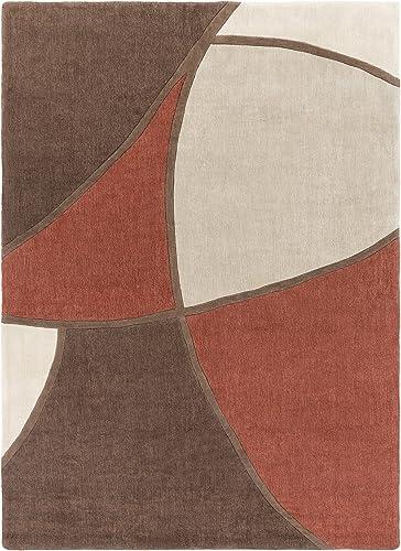 Surya Cosmopolitan COS-8887 Contemporary Hand Tufted 100 Polyester Coffee Bean 8' x 11' Abstract Area Rug